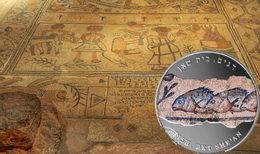 """Medalla número 7 de la Serie """"Mosaicos Antiguos de Israel"""": los baños de Beit Shean"""
