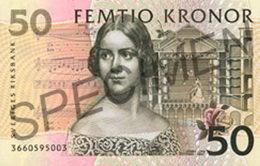 Invalidan los billetes de 50 y 1.000 coronas suecas sin banda metálica