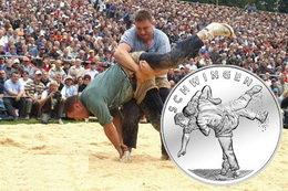 20 francos suizos para la Schwingen o Lucha Suiza: tradición, cultura y deporte