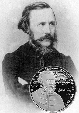 3.000 forintos plata para el escritor húngaro József Eötvös