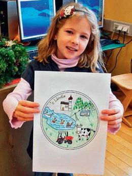 """El diseño de una niña de 9 años plasmado en una moneda de la Serie """"Austria vista por sus niños"""""""
