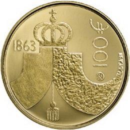 La Dieta de Finlandia de 1863 en 100 euros oro