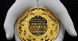 Oro, platino y plata para el bautizo del príncipe Jorge de Cambridge