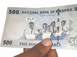 Vacas y escolares en los nuevos 500 francos de Ruanda