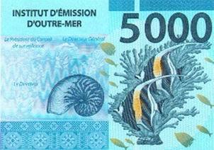 En 2014 circularán nuevos billetes en Nueva Caledonia, Polinesia francesa y Wallis y Futuna