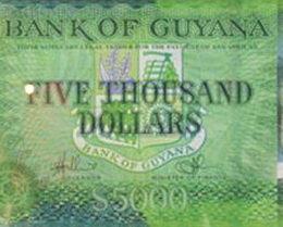Nuevo billete de 5.000 dólares para Guyana