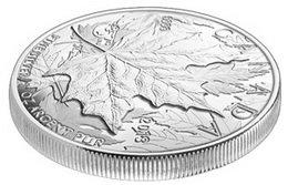 Piedfort de plata para el 25 Aniversario de la Hoja de Arce