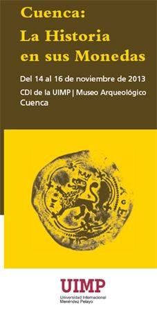 """""""Cuenca: La Historia en sus monedas"""", 14 al 16 de noviembre"""
