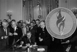 """Aprobado el diseño del dólar de plata """"Ley de Derechos Civiles de 1964"""""""