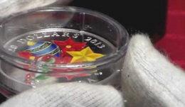 Navidad en Canadá con cristal de Murano