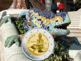 Parque Güell, Patrimonio Mundial de la UNESCO, en 2 euros conmemorativos