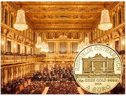 """El bullion """"Filarmónica"""" en 1/25 de onza por su XXV Aniversario"""