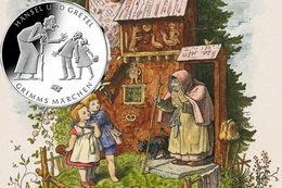 Moneda de plata para Hansel y Gretel, un clásico alemán de los Hermanos Grimm