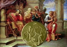 """""""David toca el arpa ante Saúl""""en Arte Bíblico de Israel"""