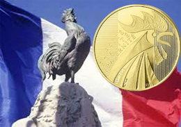 Vuelve el simbólico gallo a las monedas francesas