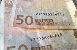 Los códigos actualizados en los billetes de los países de la Eurozona