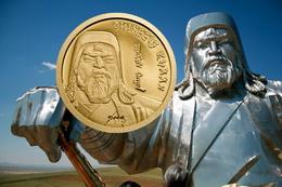 Oro y plata de Mongolia para Gengis Kan