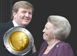 Se repite el doble retrato en los nuevos 2 euro de Holanda, pero ahora manda el rey