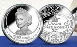Resplandor de la realeza europea en formato medalla