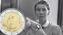2 Euros de Finlandia para el centenario de Tove Jansonn