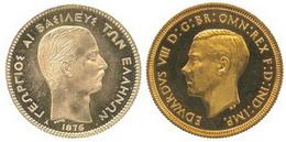 Récords espectaculares por 100 dracmas de 1876 y un soberano de 1937