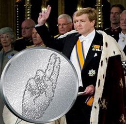 Medalla primer aniversario del rey de Holanda