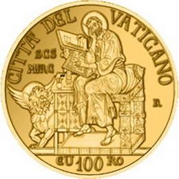 100 Euro de oro para El Evangelista San Marcos