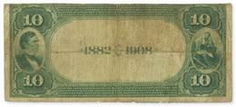 La variedad del billete de 10 dólares USA 1882 se subastará en Chicago
