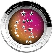 La constelación cóncava de Orión en plata australiana