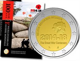 2 Euros para conmemorar el Inicio de la I Guerra Mundial
