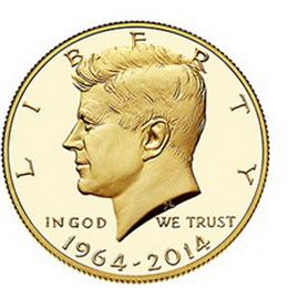 Suspendidas las ventas del medio dólar oro de Kennedy por medidas de seguridad