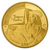 Monedas de oro y plata para el gran explorador Jacques Cartier