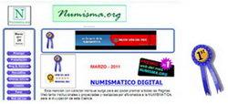 """Numismático Digital elegida """"Web del Mes"""""""