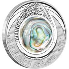 Concha de Abulón australiano en una onza de plata