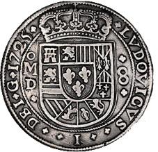 """8 Reales """"Royal"""" de Luis I, México, 1725, """"D"""" será subastado por Daniel Frank Sedwick con estimación de 125.000 $"""