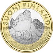 Zorro y castillo de Turku en 5 euros de Finlandia