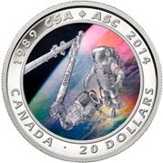 Holograma cromático en 3D para un astronauta de Canadá