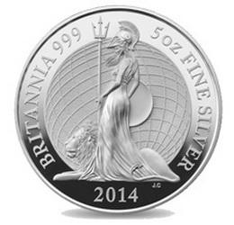 "Bullion ""Britannia 2014"" en plata, con nuevo diseño"