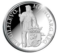 Ducado de plata holandés para la provincia de Flevoland