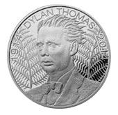 Centenario del poeta Dylan Thomas en 5 libras de Alderney