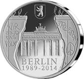 25 Aniversario de la caída del Muro de Berlín en 20 euros de plata belgas