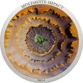 Moldavita, un meteorito en 5 dólares plata de las Islas Cook