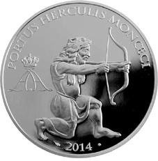 """""""Puerto de Hércules"""" en Mónaco a través de 10 euros plata"""