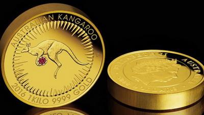 El Diseño De La Moneda Representa Un Patrón Circular Con Rayos Sol Estilizados Que Rodean A Can Rojo Delimita Piedra Preciosa Color