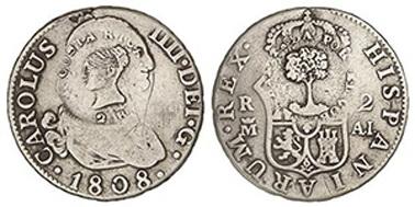 2 reales 1823. Fernando VII. Resello Costa Rica Nt2216foto70
