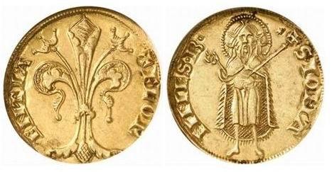 Primer Florin De Oro Del Rey Carlos I De Hungria