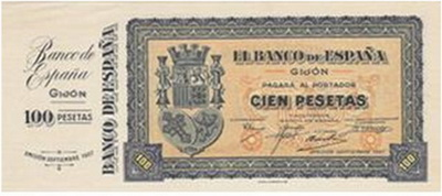 100 Pesetas Consejo de Asturias y León | numismaticodigital.com